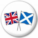 Great Britain and Scotland Friendship Flag 25mm Pin Button Badge